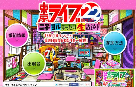 【読者アンケート企画】『トーキョーライブ22時』で一番楽しみなMCは誰?